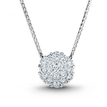 Invisible Set Diamond Necklace - Alito Diamond Necklace