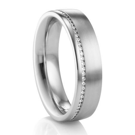 6MM Palladium Diamond Wedding Band COGE Palladium Rings