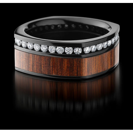 Black Zirconium Natcoco Diamond Ring