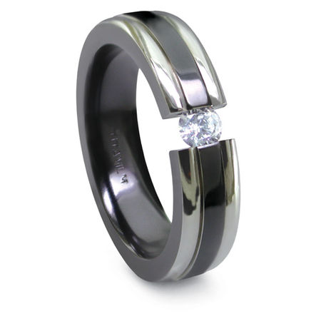Wedding bands 187 titanium rings amp wedding bands 187 titanium amp diamond
