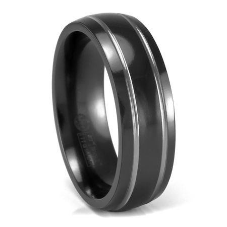 Edward Mirell 7mm Black Titanium Wedding Band