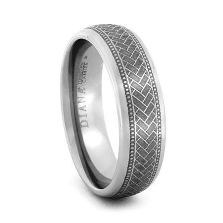 martyn tungsten engraved ring diana classic men s